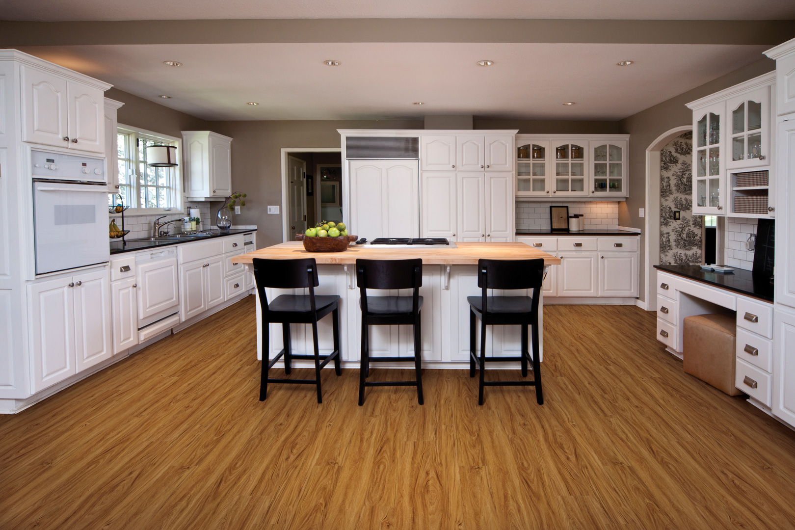 Vinyl plank flooring coretec plus hd xl enhanced design for White kitchen vinyl floor